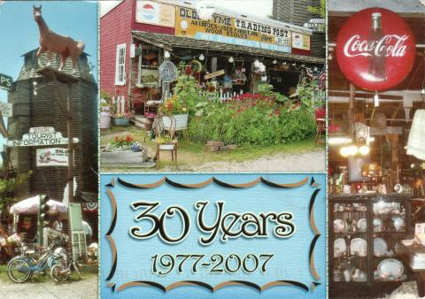 """Old tyme trading post"" Antiques and ice cream shop. 30 years from 1977-2007."